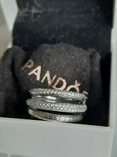 Genuine new Pandora  Triple Band  Pave Snake charm Statement Ring 199083C01