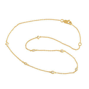 Gift For Mom Natural Diamond 14k Yellow Gold Choker Necklace Designer Jewelry
