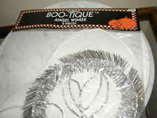 2855) 1 Pair Angel Wings With Plastic Head Band Headpiece Silver Fringe