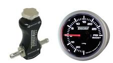 Turbosmart 52mm Boost Gauge Psi Y Negro Controlador de refuerzo de manual