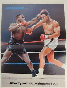 "Mike Tyson vs. Muhammad Ali Parody Illustrated Poster 11""x15"""