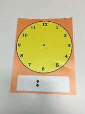 Clock face - Learning Center Math Mats -Laminated - Mats