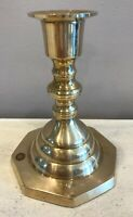 """Beautiful Brass Candlestick 4-3/8"""" Tall Base: 3-1/4"""" Made In India"""