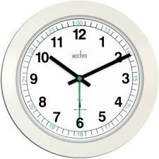 Acctim Milan White Office 24 hour Radio Controlled Wall Clock MSF signal