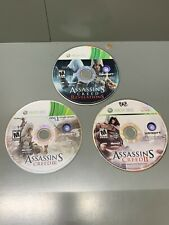 Assassin's Creed 2, 3,& Revelations Bundle Lot - Xbox 360 - Disc Only