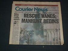 2001 SEPTEMBER 13 COURIER NEWS NEWSPAPER - RESCUE WANES; MANHUNT BEGINS- NP 3500