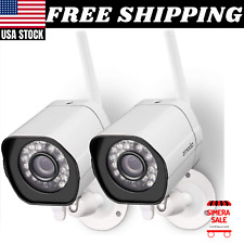 2 Pack Wireless Security Camera Smart Outdoor WiFi IP Night Vision Cloud Service