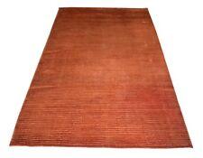 Art Deco Indo Nepali Silk Carpet Guestroom Bedroom Area Rug 4.7x8.2 Feet DN-1686