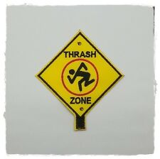 D.R.I. Thrash Zone Patch Embroidered Sew Iron on Heavy Metal Rock Band Music DIY