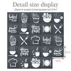 24 Pcs Mosaic Wall Tile Stickers Self-adhesive Kitchen Dinning Room Home Decor