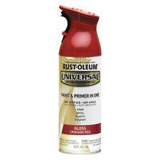 RUST-OLEUM 247562 Spray Paint, Crimson Red, Gloss, 12 oz.