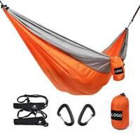 Double Person Hammock Travel Camping Nylon Parachute Hammock Sleep Swing Neu