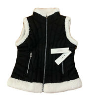 Calvin Klein Pwrformance Womens Vest Size XS New NWT Black White