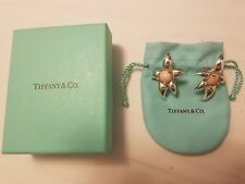 Rare Tiffany & Co. Paloma Picasso Sterling Silver & 18k Gold Starfish Earrings