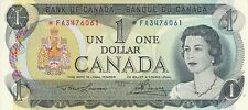 BANK OF CANADA 1 DOLLAR REPLACEMENT 1973 FA3476061 RADAR NOTE CH UNC