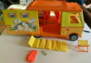 Vintage 1971 Mattel Barbie Country Camper With Accessories