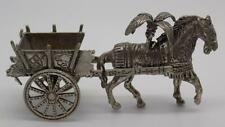 "Vintage Plata MacIza Tradicional siciliano ""Carretto"" de transporte-Probado-Italia"