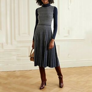 TORY BURCH Striped Midi Length Dress Size: XS $688