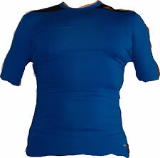 "blaues adidas techfit Sport-Shirt Gr. S COMPRESSION ""TF BASE SS"""