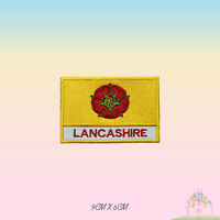 LANCASHIRE UK County Flag With Name Embroidered Iron On Patch Sew On Badge