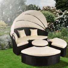 Polyrattan Sonneninsel Sonnenliege Lounge Gartenmöbel Sitzgarnitur Sitzgruppe