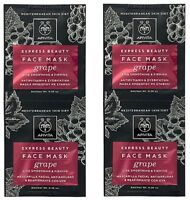 APIVITA 2X EXPRESS BEAUTY ANTI- WRINKLE & FIRMING MASK FOR FACE WITH GRAPE 2x8ml