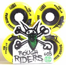 Bones 56mm 80a ATF Rough Riders Yellow Skateboard Wheels