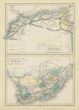 Northern & Southern Africa. Maghreb. Orange River Sovereignty. HALL 1856 map