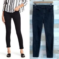 Joes Jeans Charlie High Rise Ankle Skinny Black Cropped Stretch Denim Womens 29