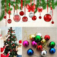 12Pcs Christmas Xmas Tree Ball Bauble Hanging Home Party Ornament Decorations
