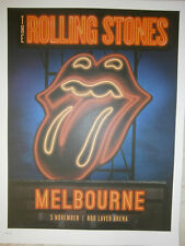 Rolling Stones poster Melbourne lithograph live  14 on FireTour LITHO australia