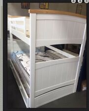 Bunk Bed Only Kids  King single Size Solid White  New Limited Stock Bargain !