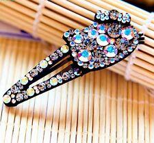 USA Hair Clip Bobby Pin using Swarovski Crystal Hairpin Hello Kitty Gray AB