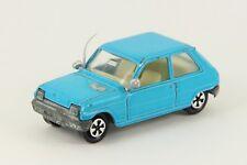 Majorette 257 Renault 5 Blue Old Wheel Vintage France Die Cast