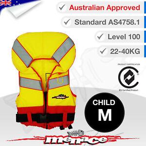 CHILD MEDIUM Life Jacket - Kids Foam Type 1 Lifejacket Vest PFD Level 100