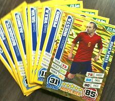 Match Attax 2014 Copa del Mundo Conjunto completo de base de España + Menta de administrador de jugador estrella