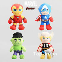 15'' The Avengers Captain America Iron Man Thor Hulk Plush Toy Soft Stuffed Doll
