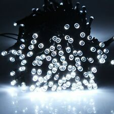 10M 100 LED Solar String Fairy Light Party Garden Yard Lawn Tree Path Pure White