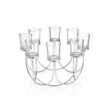 Glass Tea Light Candle Holder Wedding Christmas Table Centrepiece Candleabra