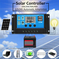 12V/24V Dual USB 40A Solar Panel Controller Battery Charge Regulator  0