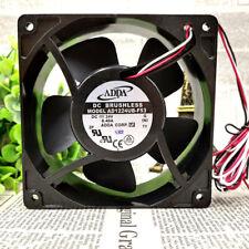 1pc ADDA AD1224UB-F53 24V 0.40A 12CM 12038 Metal Frame  3-wire Inverter Fan