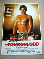 YOUNGBLOOD Vintage ICE HOCKEY Movie Poster ROB LOWE Barechested PATRICK SWAYZE