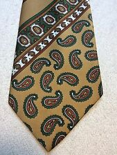 Vintage Jc Penney Mens Tie 4.5 X 55 Green, Gold, Orange