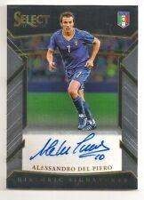 2017-18 Panini Select Alessandro Del Piero Historic Signature Auto Autograph SP