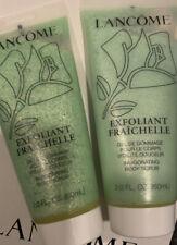 Lancome Exfoliant Fraichelle Body Scrub Travel Size New Lot Of 2 Hard To Find