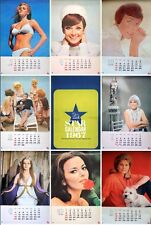 20TH CENTURY FOX Japanese calendar 1967 AUDREY HEPBURN RAQUEL WELCH DORIS DAY