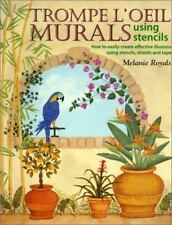 Trompe L'Oeil Murals Using Stencils Melanie Royals SIGNED by Author Craft Book