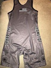 Men's Under Armour Olympics USA Team Wrestling Singlet Large L New Gray
