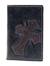 Nocona Tri-fold Mens Western Wallet Diagonal Cowboy Cross