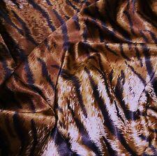 Tiger Print satén browns/black/cream * Por Metro